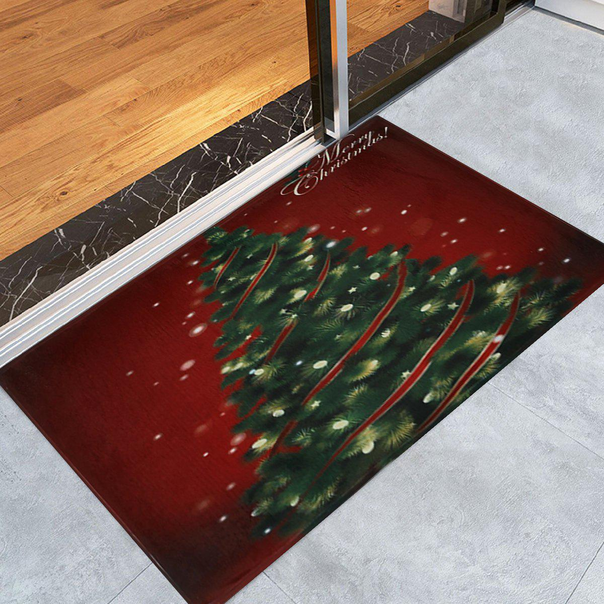 Christmas Tree Pattern Anti-skid Water Absorption Area RugHOME<br><br>Size: W24 INCH * L35.5 INCH; Color: COLORMIX; Products Type: Bath rugs; Materials: Coral FLeece; Pattern: Plant; Style: Festival; Shape: Rectangle; Package Contents: 1 x Rug;
