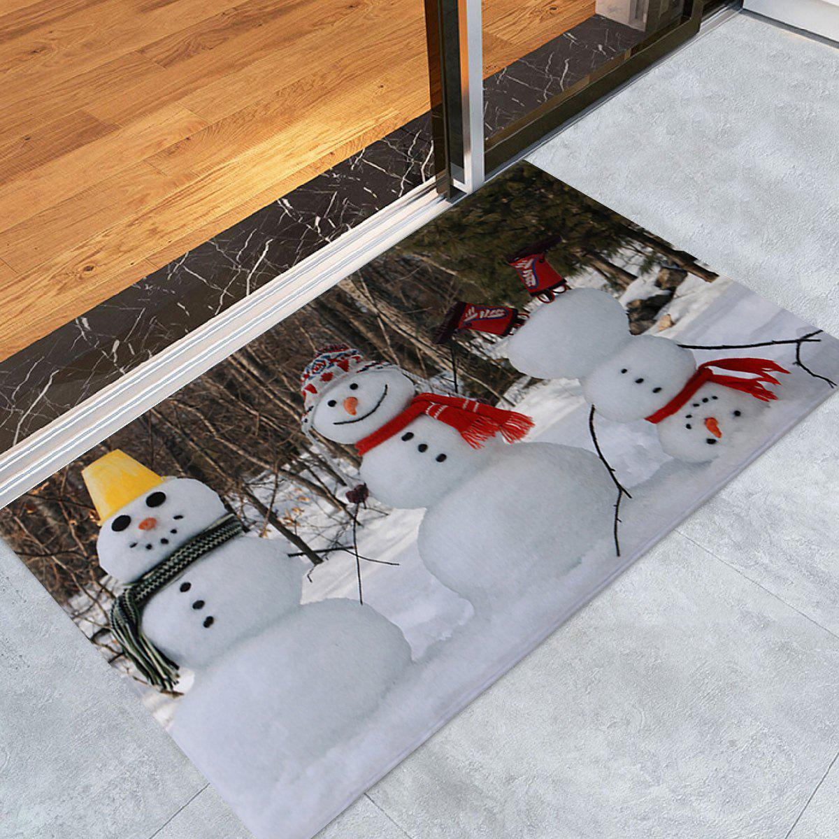 Christmas Snowmen Pattern Anti-skid Water Absorption Area RugHOME<br><br>Size: W24 INCH * L35.5 INCH; Color: COLORMIX; Products Type: Bath rugs; Materials: Coral FLeece; Pattern: Snowman; Style: Festival; Shape: Rectangle; Package Contents: 1 x Rug;