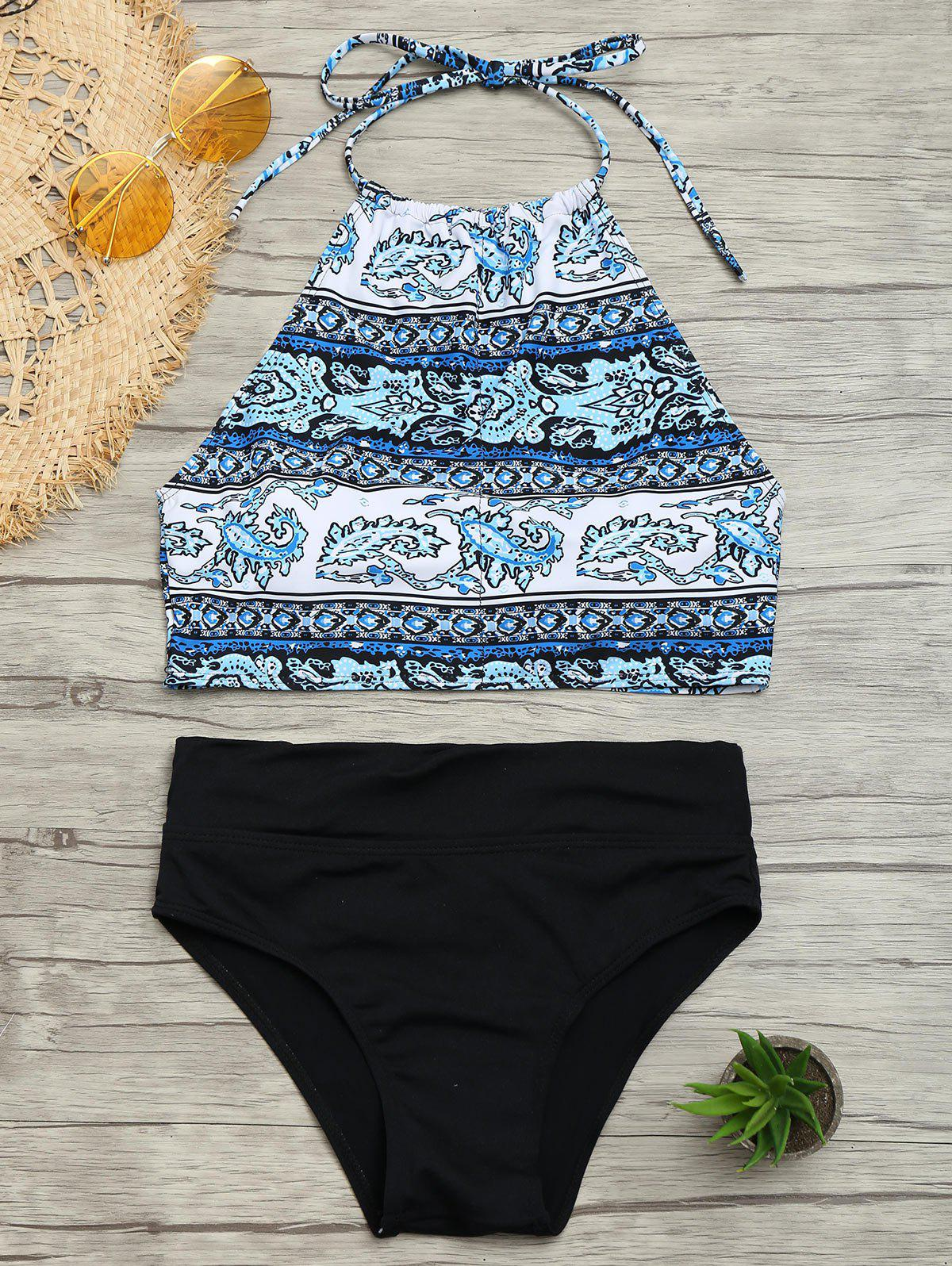 Buy Halter Tribal Print Bikini Set