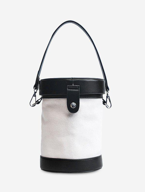 Outfits Color Block Cylinder Shaped Crossbody Bag