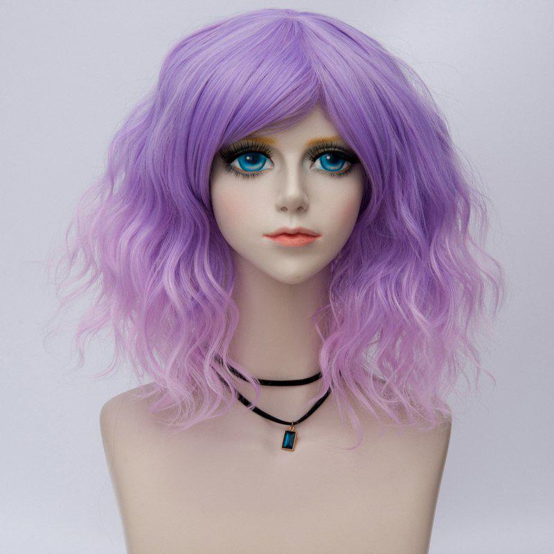 Shop Medium Side Bang Ombre Natural Wavy Synthetic Party Cosplay Wig