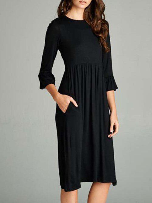 Buy Bell Sleeve Knee Length T Shirt Dress