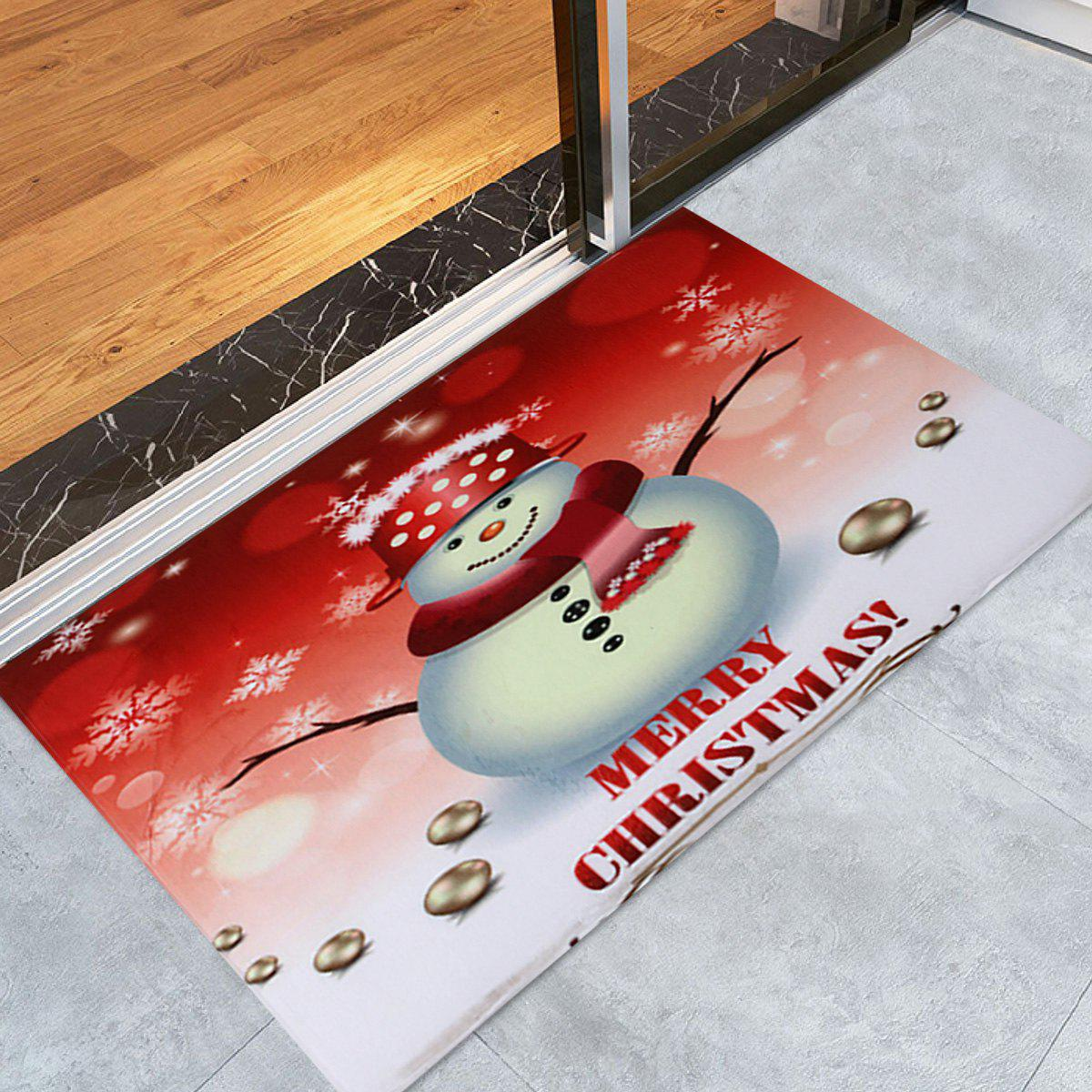 Snowman Merry Christmas Pattern Anti-skid Water Absorption Area RugHOME<br><br>Size: W16 INCH * L24 INCH; Color: COLORMIX; Products Type: Bath rugs; Materials: Coral FLeece; Pattern: Letter,Snowman; Style: Festival; Shape: Rectangle; Package Contents: 1 x Rug;