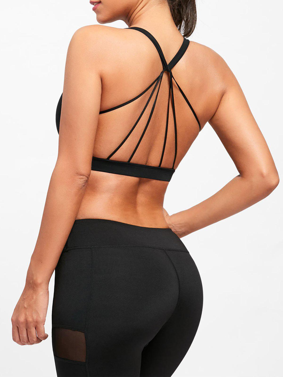 Trendy Padded Backless Strappy Yoga Bra