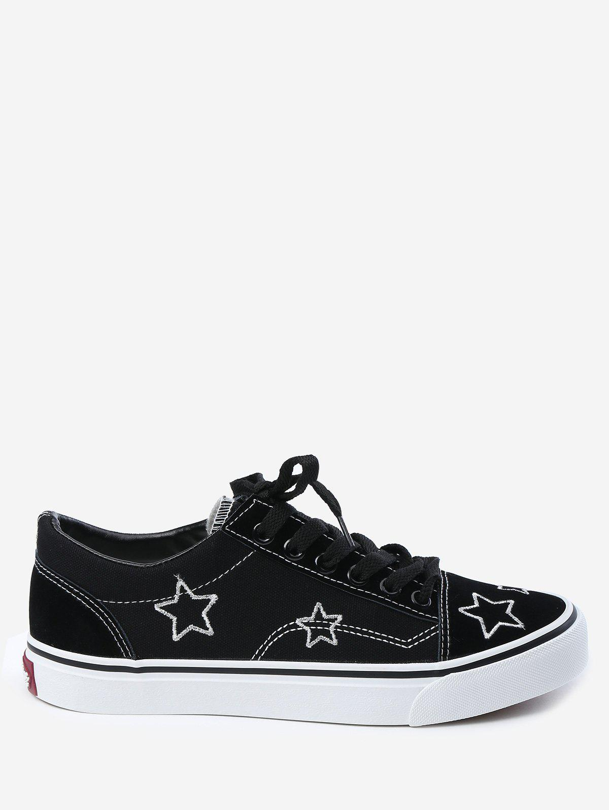 Latest Stars Embroidery Canvas Skate Shoes