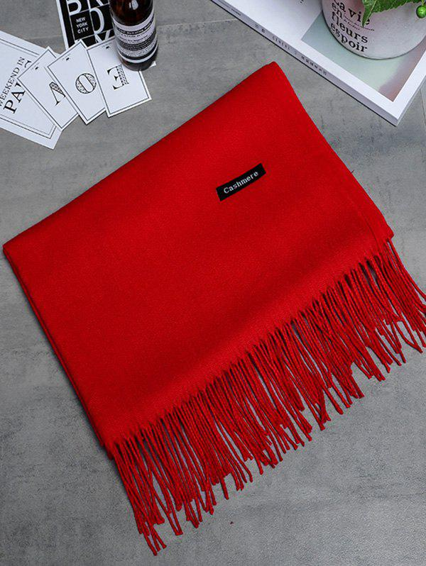 Soft Artificial Cashmere Fringed Long ScarfACCESSORIES<br><br>Color: BRIGHT RED; Scarf Type: Scarf; Scarf Length: Above 175CM; Group: Adult; Gender: For Women; Style: Vintage; Material: Polyester; Season: Fall,Spring,Winter; Scarf Width (CM): 65CM; Length (CM): 190CM; Weight: 0.2650kg; Package Contents: 1 x Scarf;