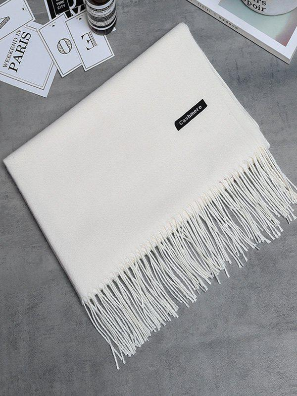 Soft Artificial Cashmere Fringed Long ScarfACCESSORIES<br><br>Color: CRYSTAL CREAM; Scarf Type: Scarf; Scarf Length: Above 175CM; Group: Adult; Gender: For Women; Style: Vintage; Material: Polyester; Season: Fall,Spring,Winter; Scarf Width (CM): 65CM; Length (CM): 190CM; Weight: 0.2650kg; Package Contents: 1 x Scarf;