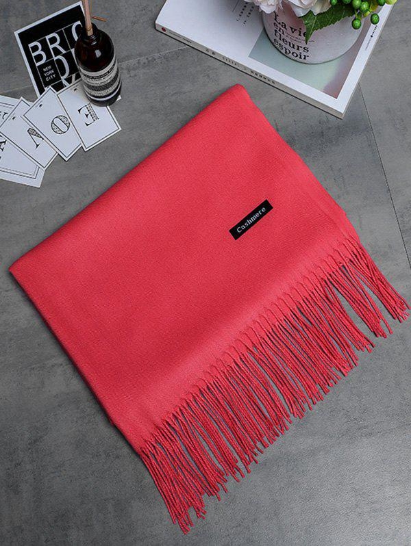 Discount Soft Artificial Cashmere Fringed Long Scarf