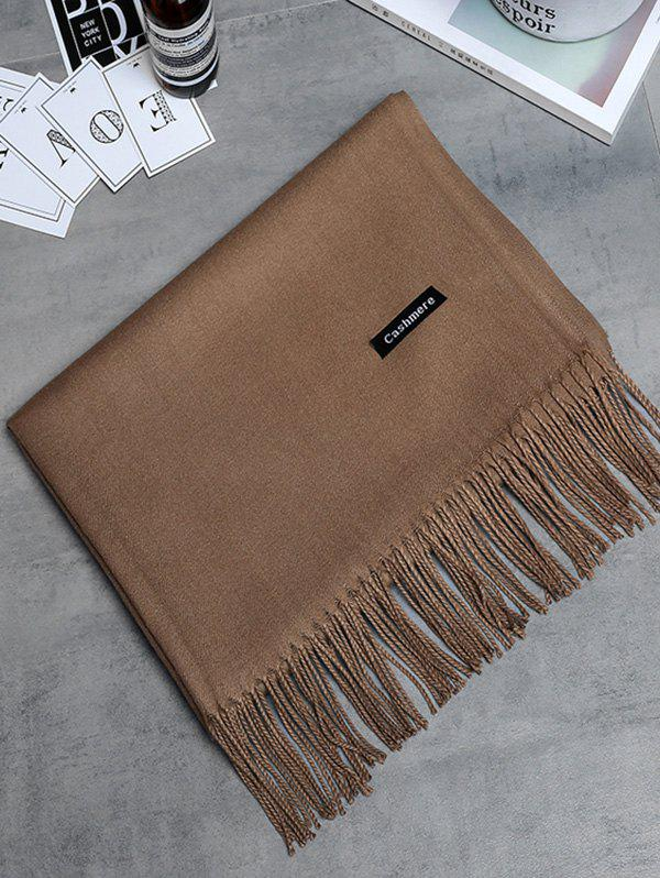 Affordable Soft Artificial Cashmere Fringed Long Scarf