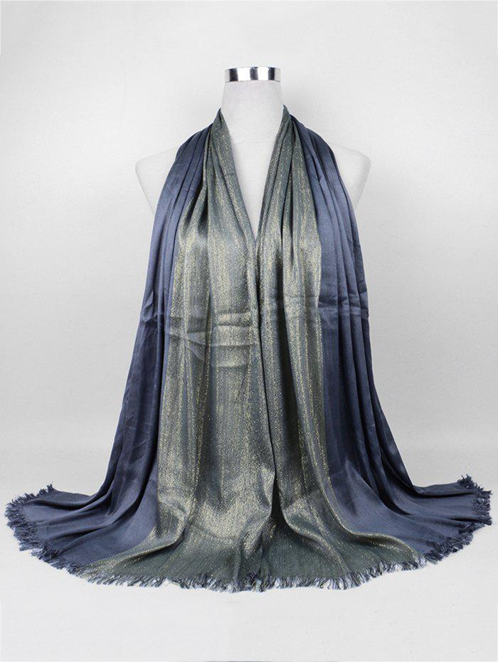 Vintage Spun Gold Tone Long ScarfACCESSORIES<br><br>Color: DEEP GRAY; Scarf Type: Scarf; Scarf Length: 135-175CM; Group: Adult; Gender: For Women; Style: Vintage; Season: Fall,Spring,Winter; Scarf Width (CM): 68CM; Length (CM): 175CM; Weight: 0.1550kg; Package Contents: 1 x Scarf;