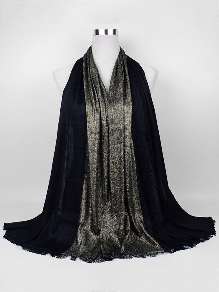 Vintage Spun Gold Tone Long ScarfACCESSORIES<br><br>Color: BLACK; Scarf Type: Scarf; Scarf Length: 135-175CM; Group: Adult; Gender: For Women; Style: Vintage; Season: Fall,Spring,Winter; Scarf Width (CM): 68CM; Length (CM): 175CM; Weight: 0.1550kg; Package Contents: 1 x Scarf;