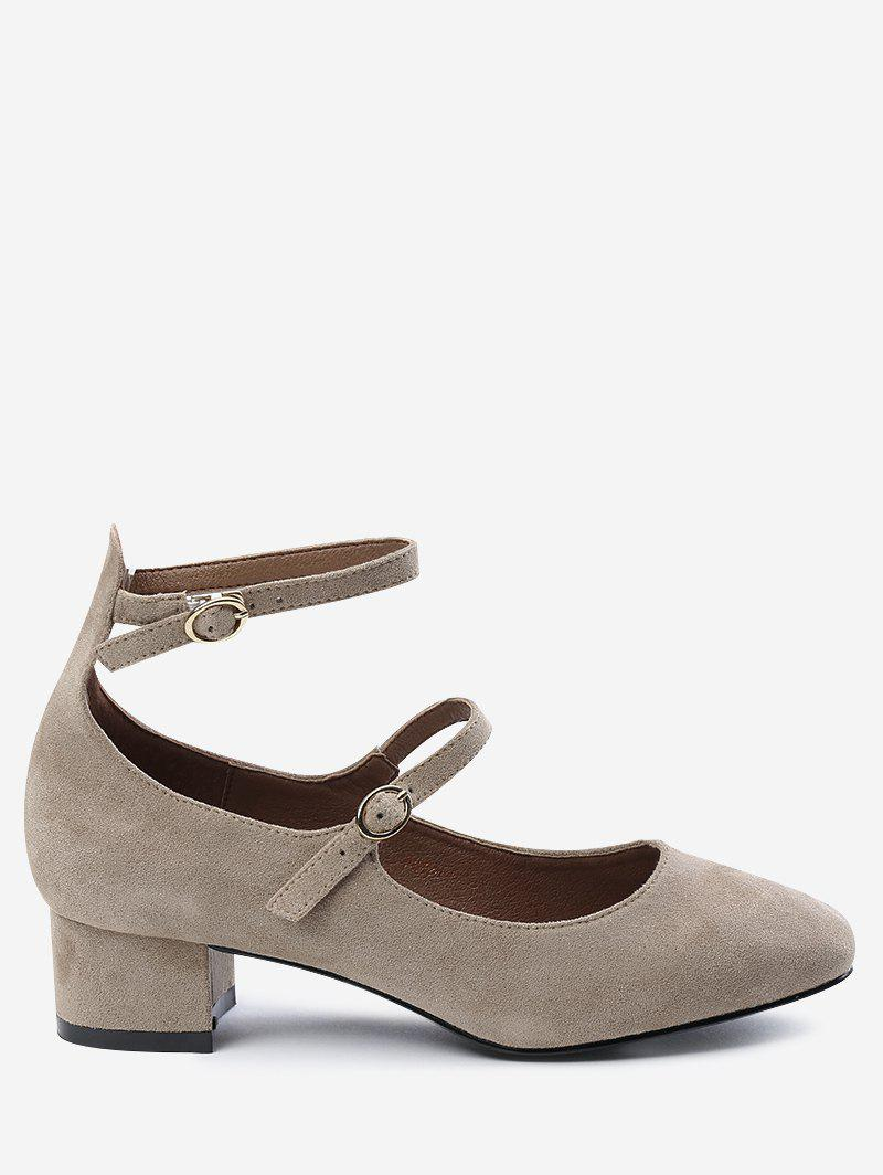 Latest Chunky Heel Ankle Strap Pumps
