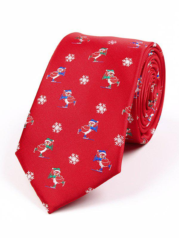 Outfits Christmas Element Pattern 7.5CM Width Tie