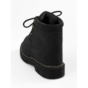 Stitching Ankle Lace Up Boots -