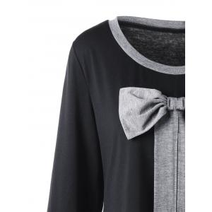 Plus Size Bowknot Embellished Longline Top -