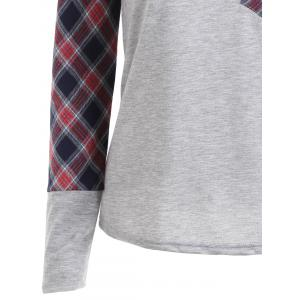 Pocket Plaid Raglan Sleeve Top -