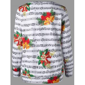 Christmas Bell and Music Score Print Sweatshirt - COLORMIX 2XL