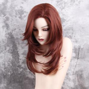 Long Side Bang Tail Adduction Layered Straight Synthetic Wig -