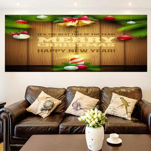 Colored Christmas Candle Multifunction  Decorative Wall Sticker - COLORFUL 1PC:24*35 INCH( NO FRAME )