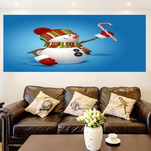 Christmas Snowmans Pattern Multifunction Wall Sticker - BLUE 1PC:24*24 INCH( NO FRAME )