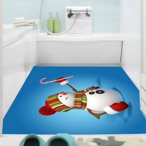 Christmas Snowmans Pattern Multifunction Wall Sticker - BLUE 1PC:24*47 INCH( NO FRAME )