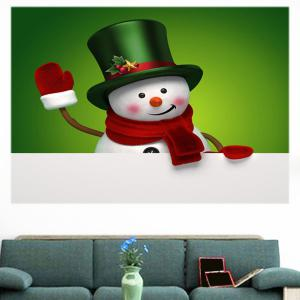 Multifunction Christmas Snowman Patterned Wall Sticker - GREEN AND WHITE 1PC:24*24 INCH( NO FRAME )