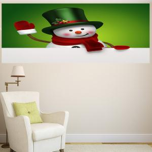 Multifunction Christmas Snowman Patterned Wall Sticker - GREEN AND WHITE 1PC:24*35 INCH( NO FRAME )