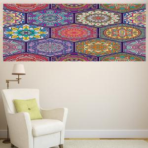 Bohemian Graphic Pattern Multifunction Decorative Wall Sticker - COLORFUL 1PC:24*24 INCH( NO FRAME )