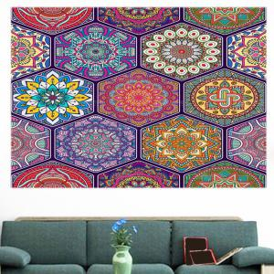 Bohemian Graphic Pattern Multifunction Decorative Wall Sticker - COLORFUL 1PC:24*47 INCH( NO FRAME )