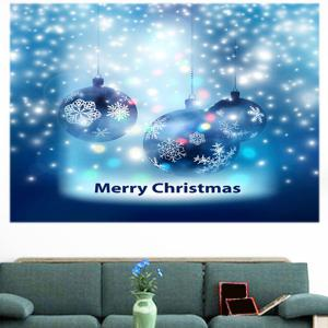Multifunction Christmas Snow Balls Pattern Wall Sticker - BLUE 1PC:24*35 INCH( NO FRAME )