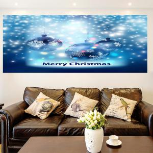 Multifunction Christmas Snow Balls Pattern Wall Sticker - BLUE 1PC:24*47 INCH( NO FRAME )
