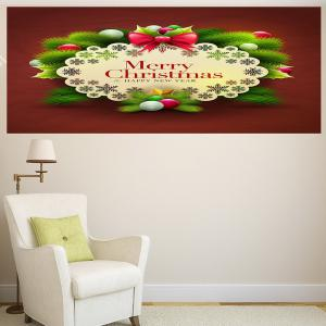 Merry Christmas Graphic Pattern Multifunction Decorative Wall Sticker - COLORFUL 1PC:24*47 INCH( NO FRAME )