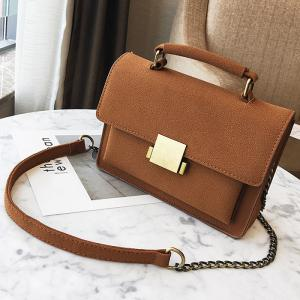 PU Leather Crossbody Bag With Handle -