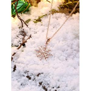 Christmas Snowflake Design Drop Necklace -