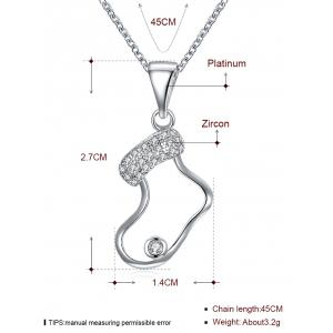 Christmas Hollow Sock Design Drop Necklace -