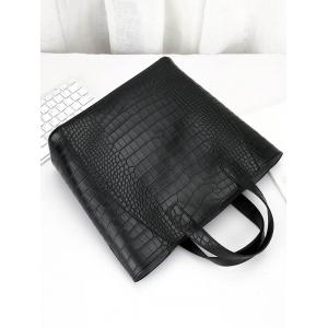 PU Leather Embossing 3 Pieces Handbag Set -