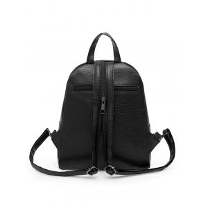 Faux Leather 3 Pieces Backpack Set -