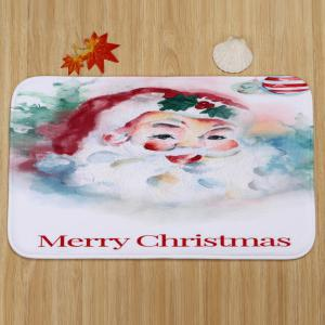 Merry Christmas Santa Pattern 3 Pcs Bath Mat Toilet Mat -