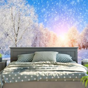 Wall Hanging Snowscape Pattern Tapestry - BLUE AND WHITE W59 INCH * L51 INCH