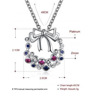 Rhinestone Insert Christmas Garland Drop Necklace - SILVER