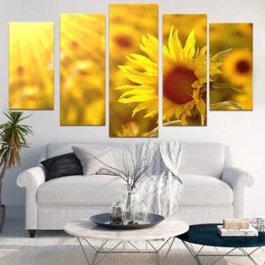Sunflower Printed Split Wall Art Painting -
