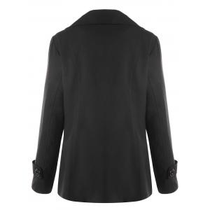 Plus Size Double Breasted Welt Pocket Coat -