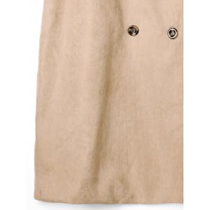 Plus Size Double Breasted Longline Waistcoat and Belt -