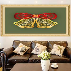 Christmas Bells Cut Print Multifunction Wall Art Painting - RED + GREEN + YELLOW 1PC:24*35 INCH( NO FRAME )