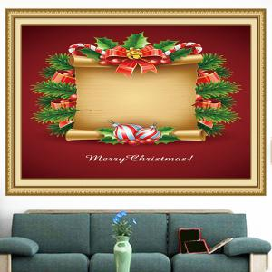 Christmas Scroll Patterned Decorative Wall Art Painting - RED AND YELLOW 1PC:24*24 INCH( NO FRAME )