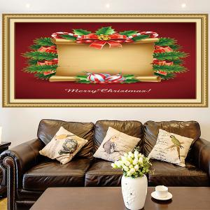 Christmas Scroll Patterned Decorative Wall Art Painting - RED AND YELLOW 1PC:24*35 INCH( NO FRAME )