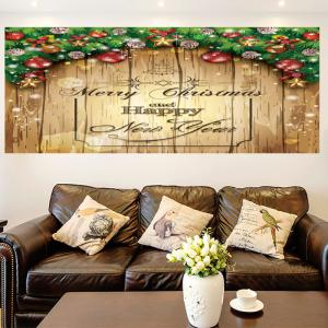 Merry Christmas Decorations Print Multifunction Wall Art Painting - YELLOW 1PC:24*24 INCH( NO FRAME )