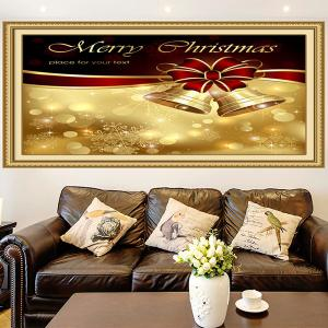 Christmas Bowknot Bells Print Multifunction Wall Art Painting -