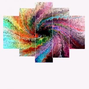 Space Colorful Unframed Wall Art Painting -