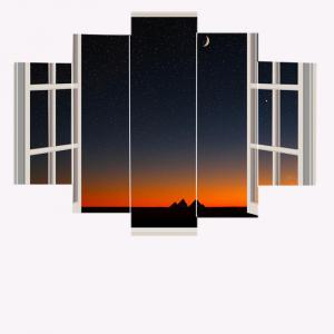 Starry Sky Window Print Canvas Paintings -